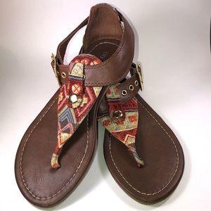 Flat Heel Tribal Pattern boho Sandal 7